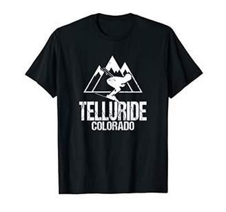 Telluride Colorado Skiing Retro Distressed T-Shirt