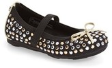 Stuart Weitzman Toddler Girl's 'Fannie Tara' Studded Flat
