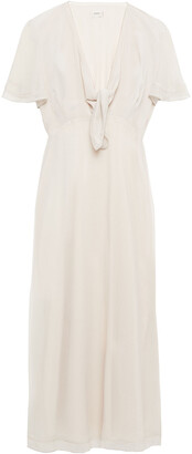 Charli Svea Knotted Chiffon Midi Dress