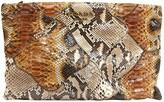 Prada Brown Python Clutch bags