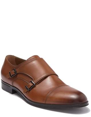 BOSS Eton Double Monk Strap Leather Dress Shoe