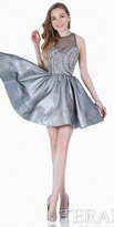 Terani Couture Iridescent Beaded Fit and Flare Homecoming Dress