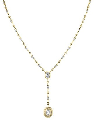 Shay Sticks & Stones 14K Yellow Gold & Diamond Double-Drop Illusion Y Necklace