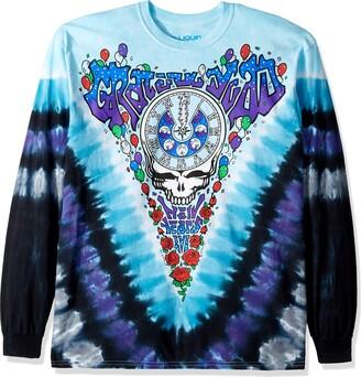 Liquid Blue Unisex-Adult's Grateful Dead Midnight Hour Long Sleeve T-Shirt