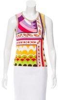 Dolce & Gabbana Geometric Print Terry Top
