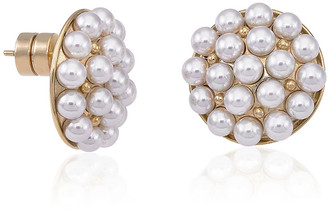 Majorica 4mm Multi-Pearly Post Earrings, Pearl/Gold