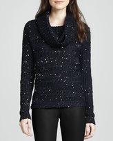 Alice + Olivia Meek Sequined Turtleneck Sweater