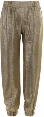 Saint Laurent Balmain Metallic Cuffed Trousers
