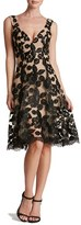 Dress the Population Women's Maya Lace Fit & Flare Dress