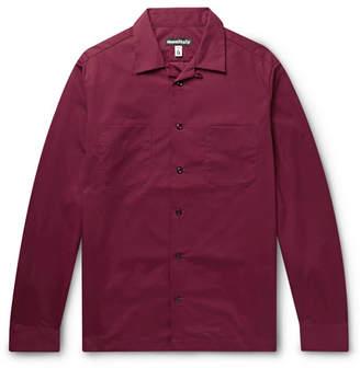 MONITALY Vacation Camp-Collar Vancloth Cotton Oxford Shirt