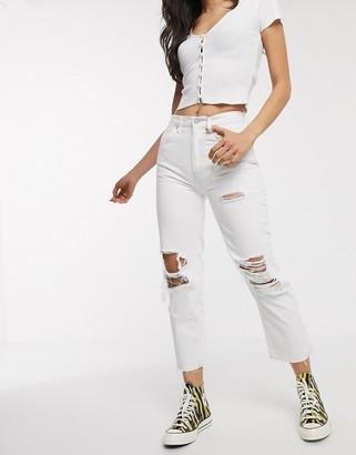Free People Lita slim leg jean in white