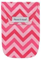 Diapees & Wipees Laminated Storage Bag with Wipes Case in Pink Chevron