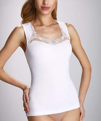 Eldar Women's Camisoles White - White Clarissa Lace Tank - Women & Plus