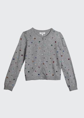 Milly Girl's Rainbow Stone Embellished Cardigan, Size 7-16