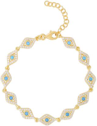 Sphera Milano Gold Over Silver Evil Eye Bracelet