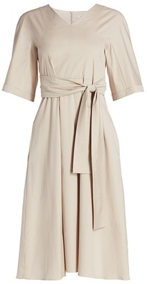 Max Mara Lea Full Cotton Knotted Dress