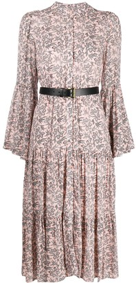 MICHAEL Michael Kors Bell Sleeve Paisley-Print Dress
