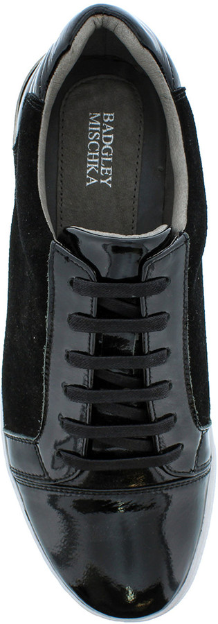 Thumbnail for your product : Badgley Mischka Men's Ellison Patent Leather/Suede Sneakers