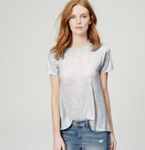 LOFT Back Pleat Tee