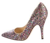 Kate Spade Glitter-Embellished Pointed-Toe Pumps