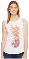 Lucky Brand Pineapple Tank Top Women's Sleeveless
