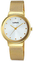 Lorus RG296JX9 Women's Mesh Bracelet Strap Watch, Gold/White