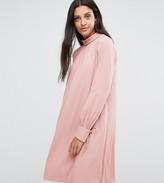 Y.A.S Tall tie cuff mini shift dress in pink
