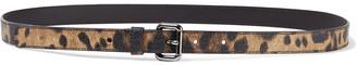 Dolce & Gabbana Leopard-print Faux Textured-leather Belt