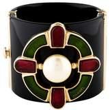 Chanel Faux Pearl & Gripoix Resin Cuff