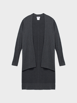 DKNY Extra Long Sleeve Shawl Cardigan With Step Hem