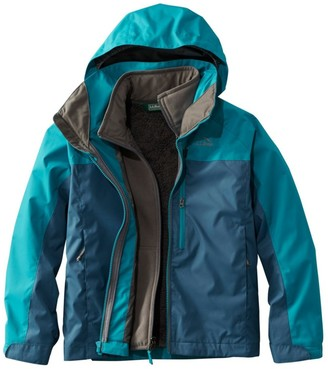 L.L. Bean Boys' KIds' Adventure Seeker 3-in-1 Parka, Colorblock