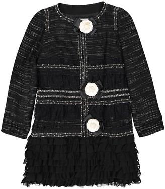 Edward Achour Black Linen Coat for Women