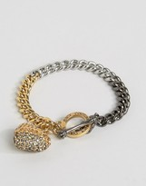 Juicy Couture Champagne Ombre Heart & Chain Bracelet