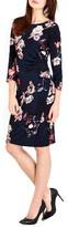 Wallis Women's Shadow Blossom Faux Wrap Dress