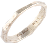 Julien David Sterling Silver Thin Band Ring Size 7.5 $220 New 74236