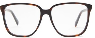 Celine Square Tortoiseshell-acetate Glasses - Tortoiseshell