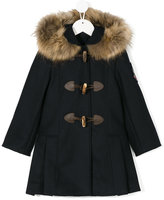 Lapin House - hooded duffle coat - kids - Wool/Coyote Fur/Tactel - 3 yrs
