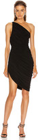 Norma Kamali Diana Mini Dress in Black   FWRD