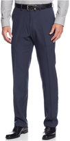 Kenneth Cole Reaction Straight-Fit Stretch Gaberdine Solid Dress Pants