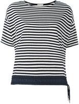 Moncler contrast hem T-shirt - women - Cotton/Polyamide/Spandex/Elastane - M