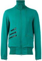 Y-3 zipped sweatshirt - men - Cotton/Polyamide/Polyester/Spandex/Elastane - S