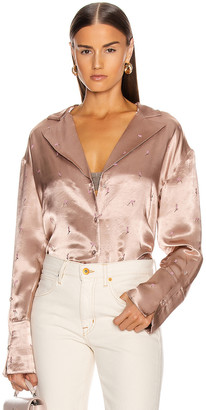 GRLFRND Pin Up Girl Blouse in Nude | FWRD