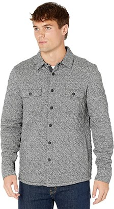 Faherty Epic Quilted Fleece CPO (Carbon Melange) Men's Clothing