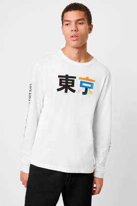 French Connection Japanese Character Long Sleeve T-shirt