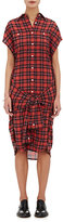 R 13 Women's Plaid Sleeveless Wrap Shirtdress