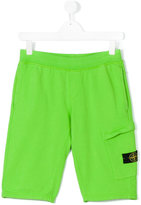 Stone Island Junior - track shorts - kids - Cotton - 14 yrs