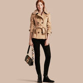 Burberry Detachable Fur Trim Skirted Wool Jacket