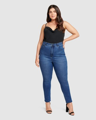 Forever New Curve Belinda Curve High Rise Ankle Grazer Jeans
