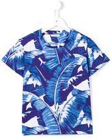 Dolce & Gabbana banana leaf print T-shirt - kids - Cotton - 3 yrs