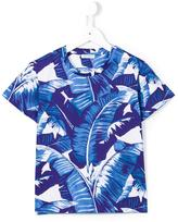 Dolce & Gabbana banana leaf print T-shirt - kids - Cotton - 4 yrs